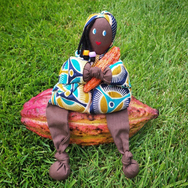 My little hand-crafted cacao lady on her cacouch!