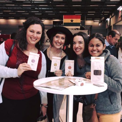 Mireille, myself, Elle and Monica at Salon du Chocolat, Paris