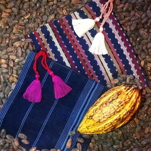 Guatemalan textiles by Luna Zorro and Guatemalan cacao from Izabal Agro Forest