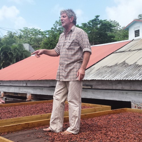 Kim, owner of Crayfish Bay Organic Estate