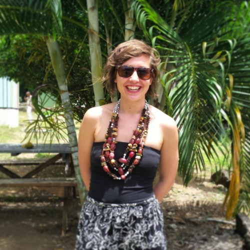 Myself with beautiful Grenadian spice necklaces