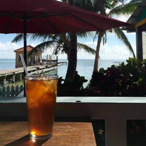Iced cacao tea at the Belize Chocolate Company