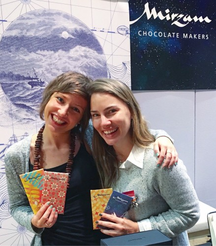 Myself and Kathy Lee with delicious and beautiful Mirzam Chocolate